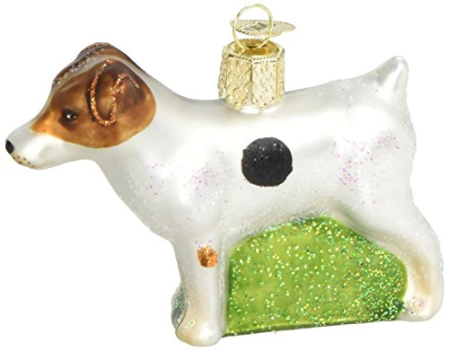 Old World Christmas Ornaments: Jack Russell Terrier Glass Blown Ornaments for Christmas Tree