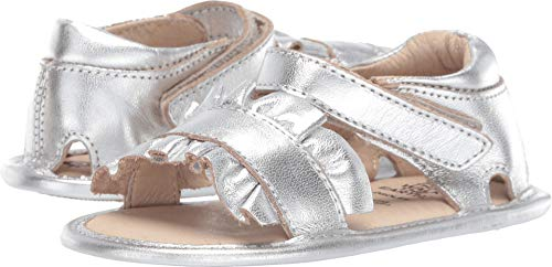 - Old Soles Baby Girl's Ruffle (Infant/Toddler) Silver 20 M EU