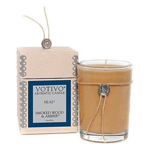 Votivo Aromatic Candle Smoked Wood and Amber #62