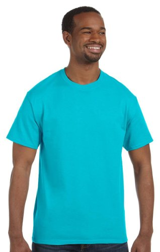 Gildan Men's Heavy Taped Neck Comfort Jersey T-Shirt, Pack of 10