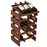 15-Bottles Wine Rack with Display Top