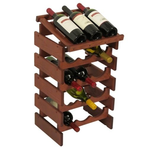 15-Bottles Wine Rack with Display Top by Wooden Mallet
