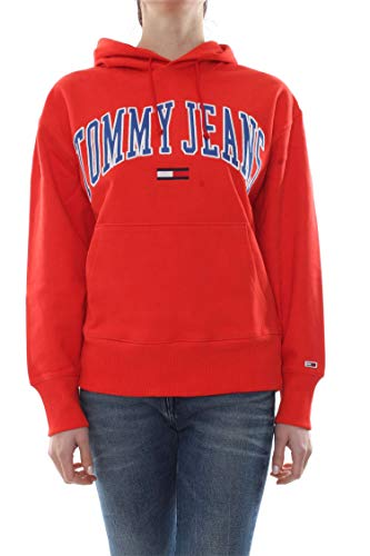 Red Tommy Collegiate Jeans Dm0dm06320 Donna Clean L Felpa rTYrtw
