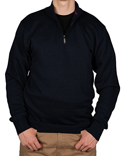 Navy 1/4 Zip Sweater (Ecko Unltd Men's 1/4 Zip Sweater, Navy, Size)