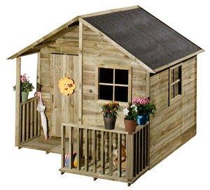 Maisonnette Chalet Cabane En Bois Pour Enfant Amazon Fr Jardin