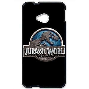 Popular Risk Movie Jurassic Park Logo Phone Case Cover For Htc One M7 Jurassic Park Black Back Design For Boys 3D Phone Accessories