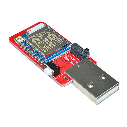 CH340 CH340G USB to ESP8266 ESP-07 Wireless WiFi Developent Board Module Wi-Fi Built-in Antenna to TTL Driver Module 45V - 55V Phoncoo