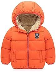 Filouda Baby Boys Girls Winter Jacket Fleece Lined Down Cotton Windproof Warm Hooded Puffer Coats