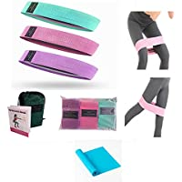 Resistance Bands Set Resistance Bands Booty Bands, Exercise Bands Set Workout Bands Hip Bands Fitness Band, Pack of 3…