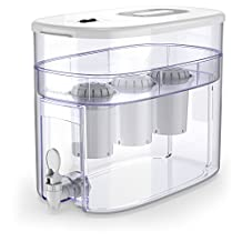 pH RECHARGE Alkaline Water Ionizer Machine – Countertop Water Filter Purifier – Water Alkalizer Pitcher System – High pH Ionized Water, Super-Fast Filtration, 2.6 Gallon, 12.5 Litre (White)