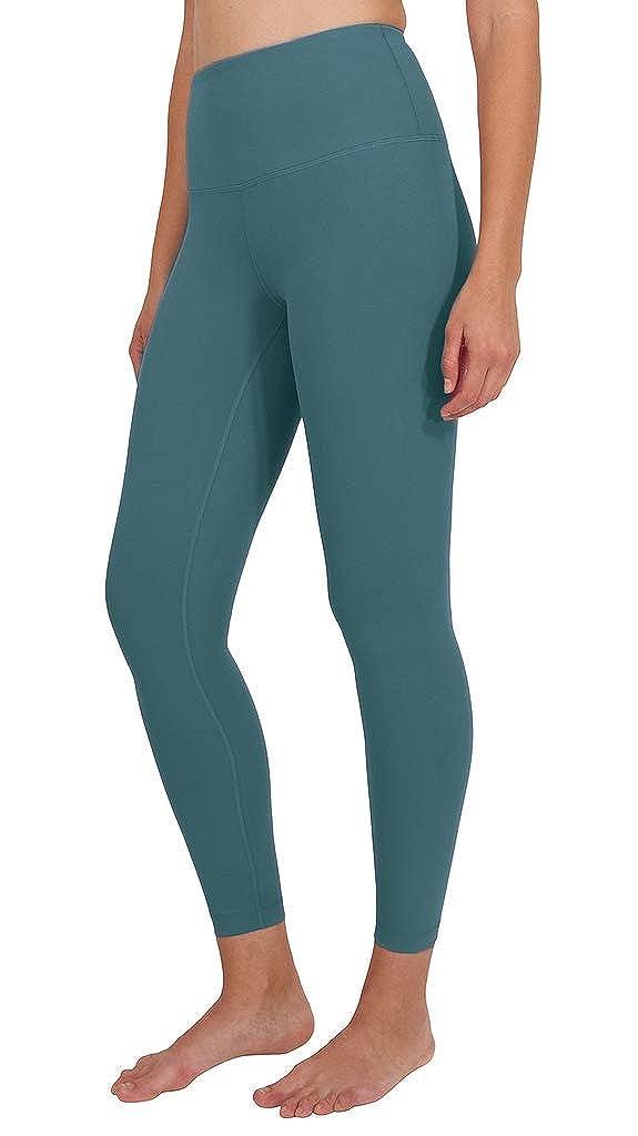 bluee Smoke Ankle Length Yogalicious High Waist Ultra Soft Lightweight Leggings   High Rise Yoga Pants