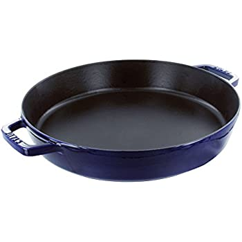 Staub Double Handle Fry Pan, Dark Blue, 13