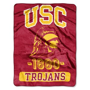 The Northwest Company Officially Licensed NCAA USC Trojans Varsity Micro Raschel Throw Blanket, 46