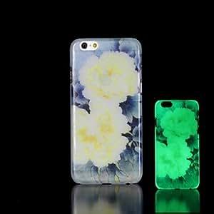 SHOUJIKE Flower Pattern Glow in the Dark Hard Case for iPhone 6