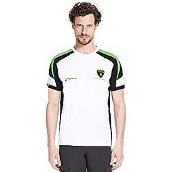 Automobili Lamborghini Squadra Corse T-Shirt, White (Small)