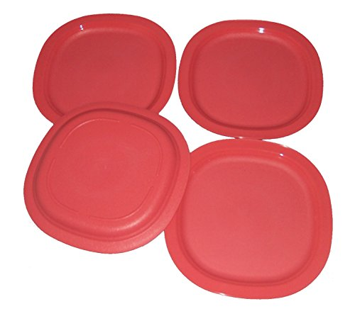 Tupperware Set of 4 Microwave Luncheon Plates in Coral