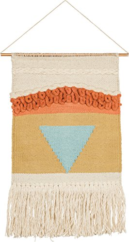 Southwestern Wall Hanging - Woven Wall Hanging Natural Fiber Art Tassel Banner – Voyager Pattern - Boho Hippie-Chic Earthy Decor - Apartment Dorm Living Room Bedroom Baby Nursery Art - 13