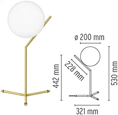 Modern simple table lamp Nordic style creative living room bedroom table lamp bedside lamp study glass ball decorative table lamp