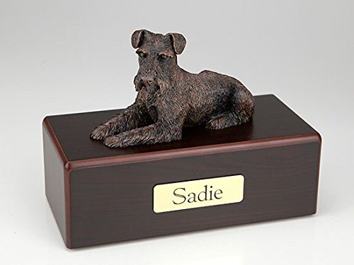 Ever My Pet Schnauzer Ears Down Economy Bronze Series Dog Pet Urn by Ever My Pet (Image #1)