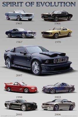 Mustang Evolution Poster 36006 Mustang Evolution Poster