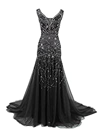 Ellenhouse Long Maxi Beaded Sequin Dresses Mother of The Bride Wedding Prom Gowns