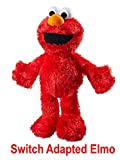 LDK Adapted Toys LLC Switch Adapted Toy Tickle Me Elmo | Adaptive Toys | Special Needs Switch Toys | Switch Toys Red, Medium