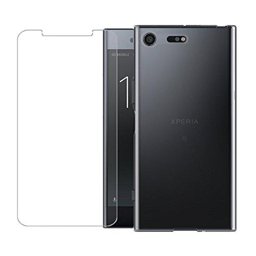 Funda para Sony Xperia XZ1 Compact , IJIA Transparente TPU Silicona Suave Cover Tapa Caso Parachoques Carcasa Cubierta para Sony Xperia XZ1 Compact (4.6) + Una hoja Película protectora de vidrio temp