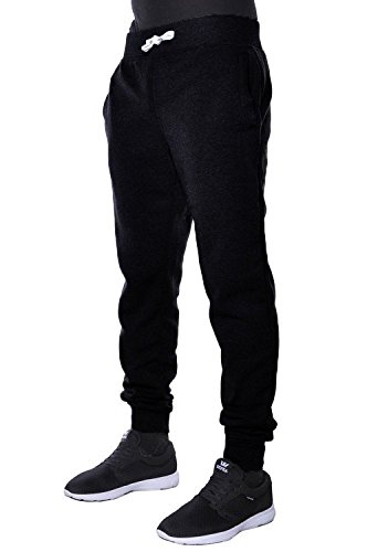Mens Fleece Jogger Pants Elastic Active Basic Urban Harem Slim Fit