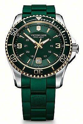 Mavericks Green (Victorinox Swiss Army Maverick Green Dial Green Rubber Mens Watch 241606)