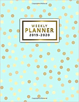 2019 2020 weekly planner pretty golden polka dots daily weekly monthly two year planner and organizer nifty large 2 year agenda schedule with to dos and more 2019 2020 planner gifts