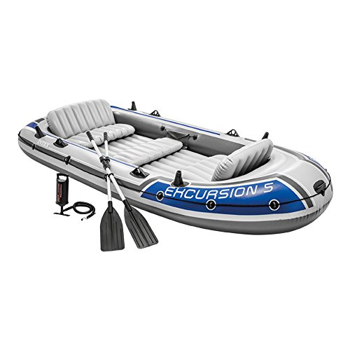 Intex Excursion 5 Person Boat Set]()
