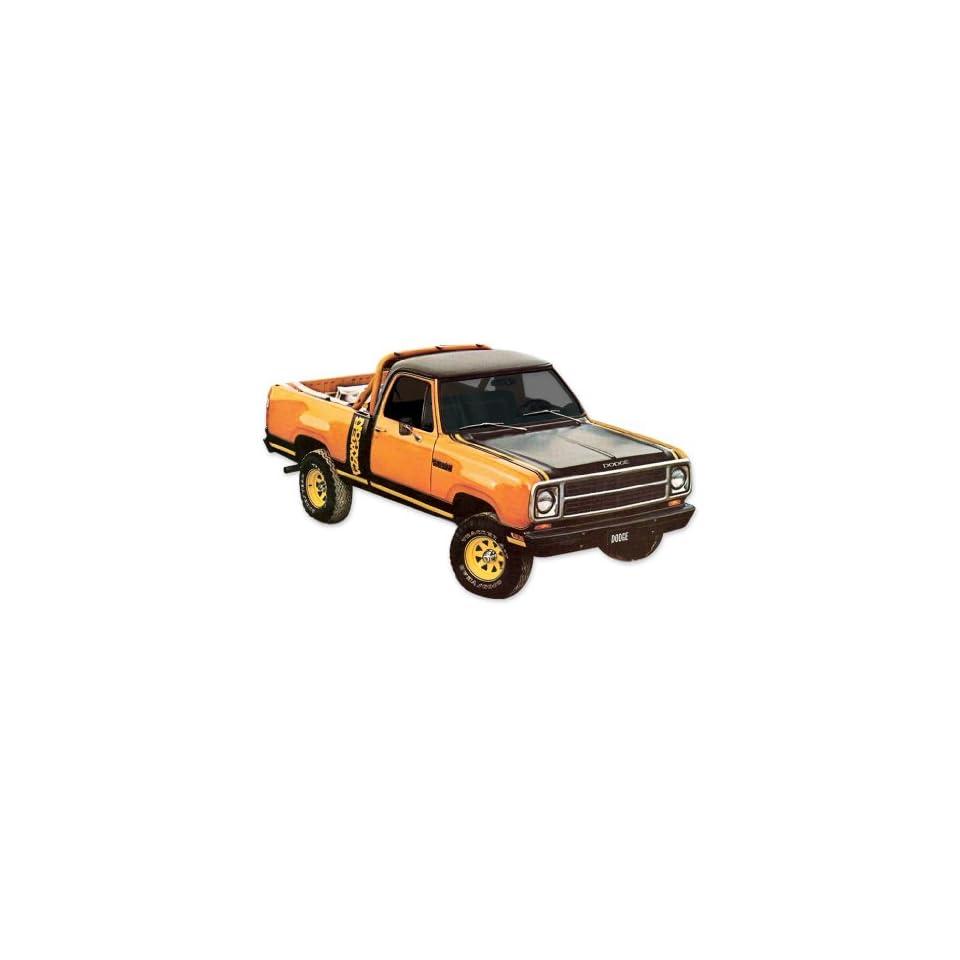 1979 1980 Dodge Macho Power Wagon Truck Decals & Stripes Kit   ORANGE / BLACK