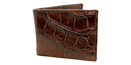 Brown Genuine Alligator Millennium Bifold Wallet – Alligator Inside and Out RARE - Factory Direct - Gift Box - Slim Billfold - Black Brown Cognac – Made in USA by Real Leather Creations FBA298 by Real Leather Creations (Image #7)