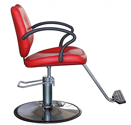 FlagBeauty Hair Beauty Salon Equipment Hydraulic Barber Styling Chair (red) by flag beauty (Image #3)