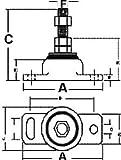 Barr Manifolds 80001 Single Engine Mount by Barr