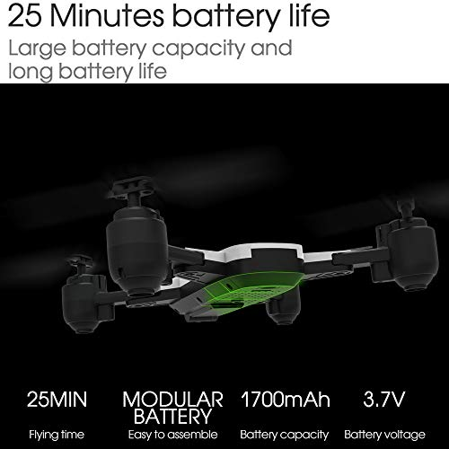 LikeroDrone x pro 5G Selfi WiFi FPV GPS,with 1080P HD Camera,Foldable RC Quadcopter,Beginners-Controlled Through The Mobile Phone App-One-Key Start&one-Key Landing (Black) by Likero (Image #9)