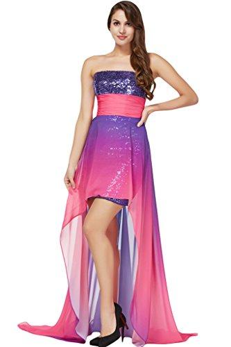 Damen Abendkleid Promkleid Festkleid Partykled Ivydressing Chiffon B Beliebt Violett OFxdgOHqw