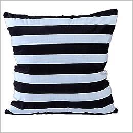Amazon.com: TOOPOOT rayas impresión manta funda de almohada ...