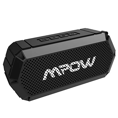 Mpow R3 Bluetooth Speaker, Portable Indoor Outdoor Wireless Speaker Bluetooth V4.2, HD Stereo&Bass, IPX6 Water-Resistant, Support AUX in, 15-Hour Playtime Party, Beach, Shower, Camping, Hiking (Black)