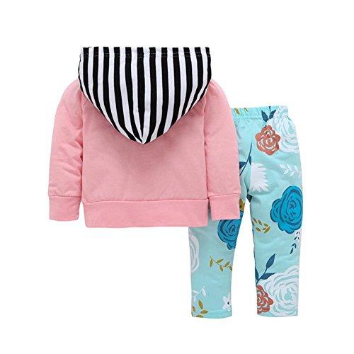 0aeb60c62af ESHOO Baby Long Sleeve Deer Print Hoodie Tops + Pants Kids Outfit Clothes