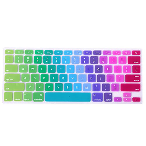 HDE Rainbow Silicone Keyboard Metallic