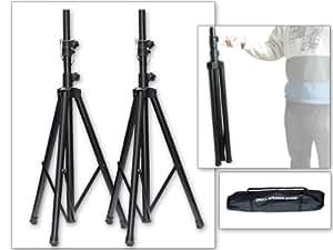 Soporte Montaje para Altavoces 2x Unidades + Bolso Estuche (1,25 - 1,88 m) Trípode para Altavoces Color Negro Modelo: BS2A