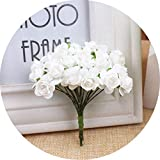 Best Garland Fake Eyelashes - 12Pcs 1.5Cm Mini Rose Flower Artificial Flower Home Review