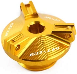 Color Gold Fz09 2 5 Motorcycle Aluminum Oil Filler Cap Plug Cover With Mt 09 Fz 09 Logo Ronglingxing Motorcycle Parts For Yamaha Mt09 Mt 09 Tracer Fz09 M2 0 Automotive Replacement Parts