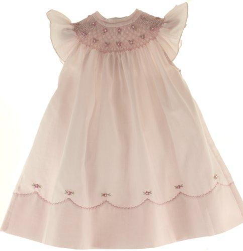 Feltman Brothers Infant Toddler Girls Pink Smocked Angel Bishop Summer Dress