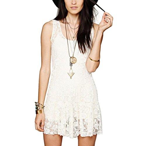 Vestido blanco casual elegante
