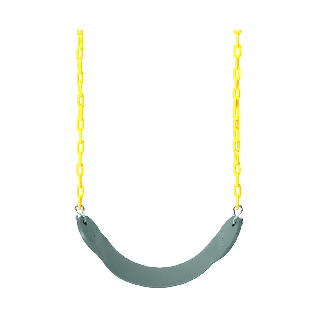 Green Kalaokei Kids EVA Playground Garden Yard Gym Swing Seat with Chains Snap Hooks Set Toy  Yellow