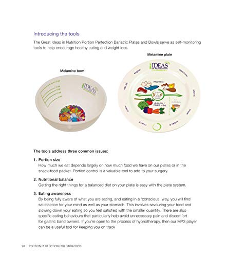 Portion Perfection for Bariatrics International Book for Weight Loss - Dietitian's Picture Book Show
