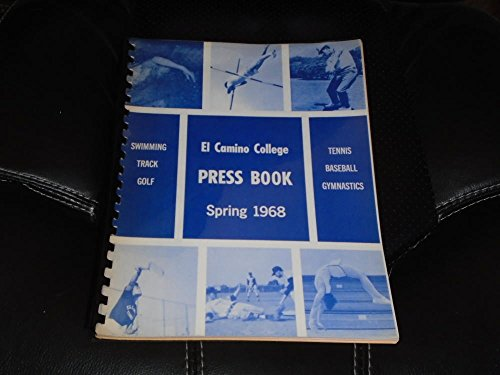1968 EL CAMINO COLLEGE (CA) COLLEGE SPRING BASEBALL GOLF TRACK MEDIA GUIDE