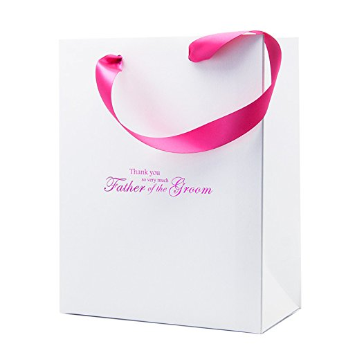 Wedding the You of Ivory Gold Groom Very Much Gift White Bag So Gift Father Thank Bag Pink AqUdpwvpY